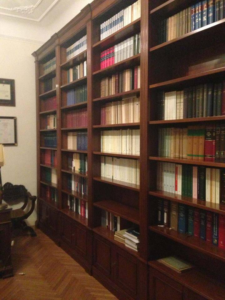 Libreria per studio libreria in legno legnoeoltre for Arredamento per studio