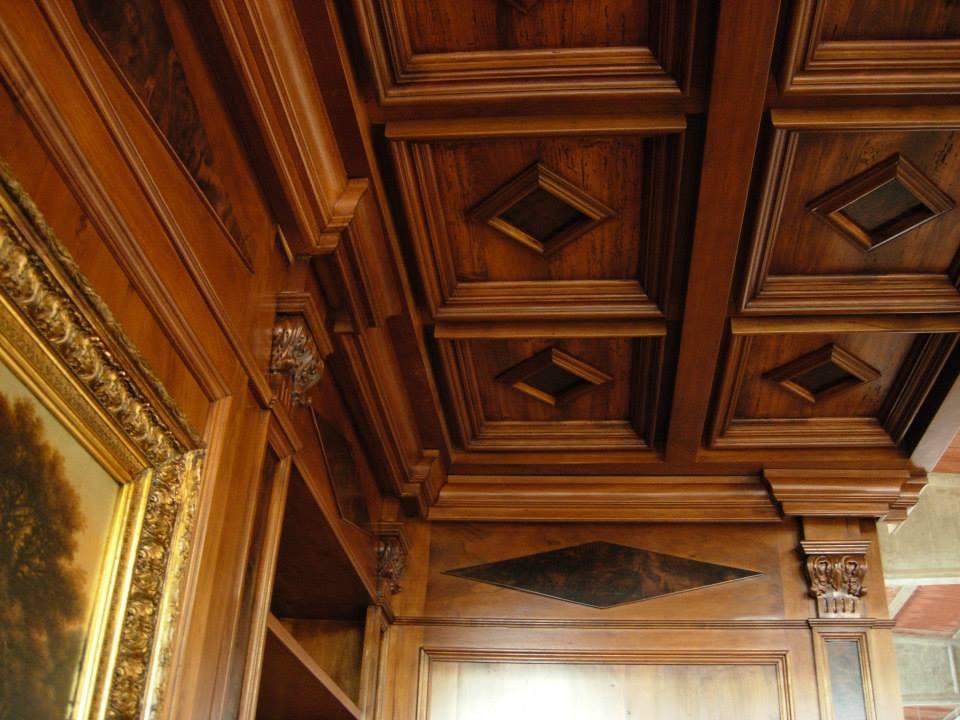 Travi In Legno Per Soffitto : Soffitti in legnosoffitti a cassettoni su misuralegnoeoltre