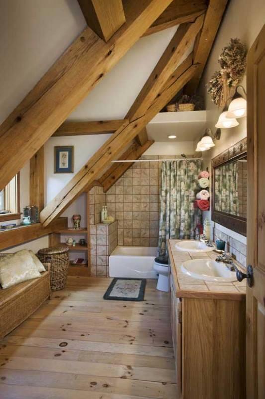 Arredamento per bagno rustico : Mansarda da abitare arredamento legnoeoltre