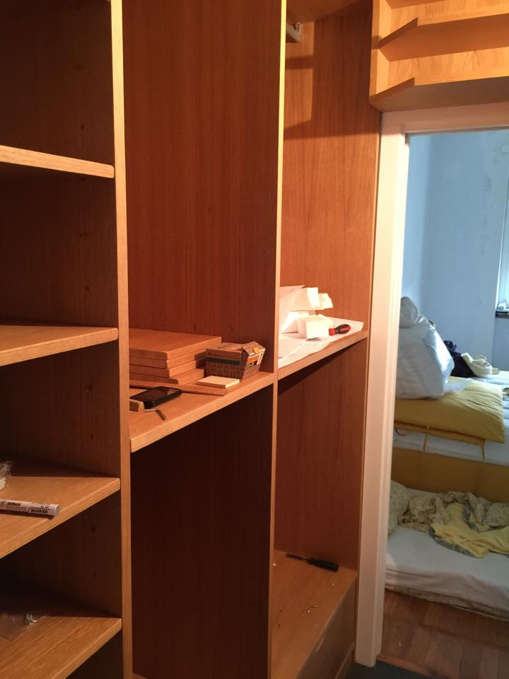 Cabina armadio in rovere