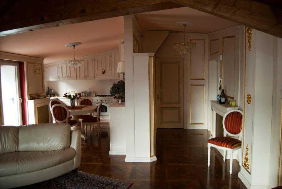 arredamento classico mansarda Roma