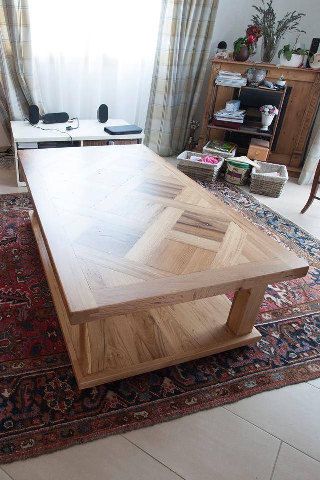 Tavolo basso in rovere