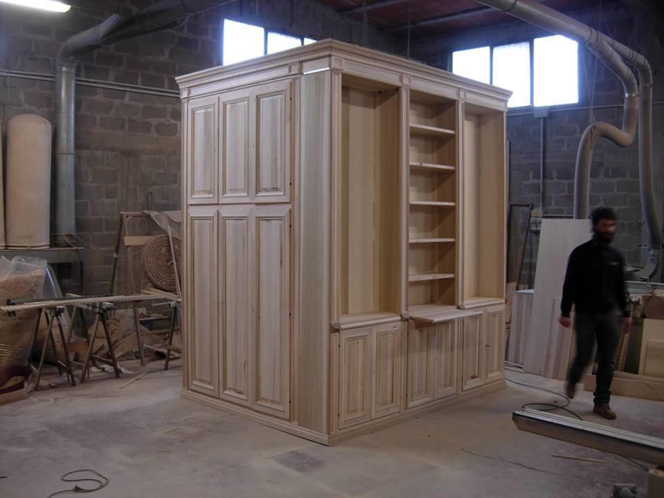 Parete angolare ingresso legnoeoltre - Parete attrezzata ingresso ...