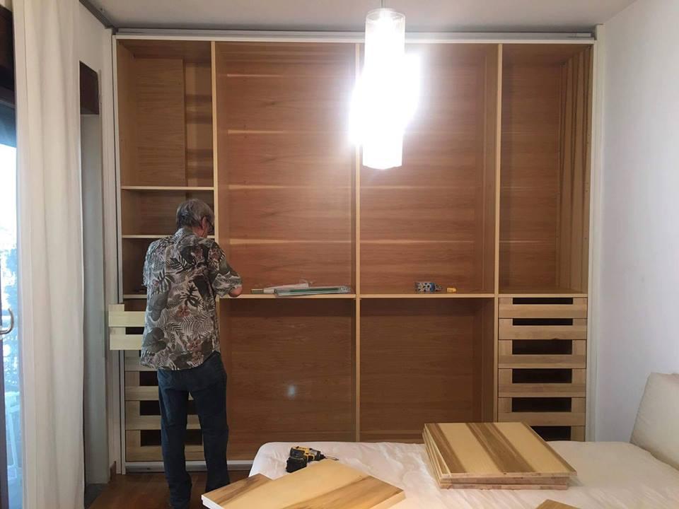 Montaggio interni armadio (2)