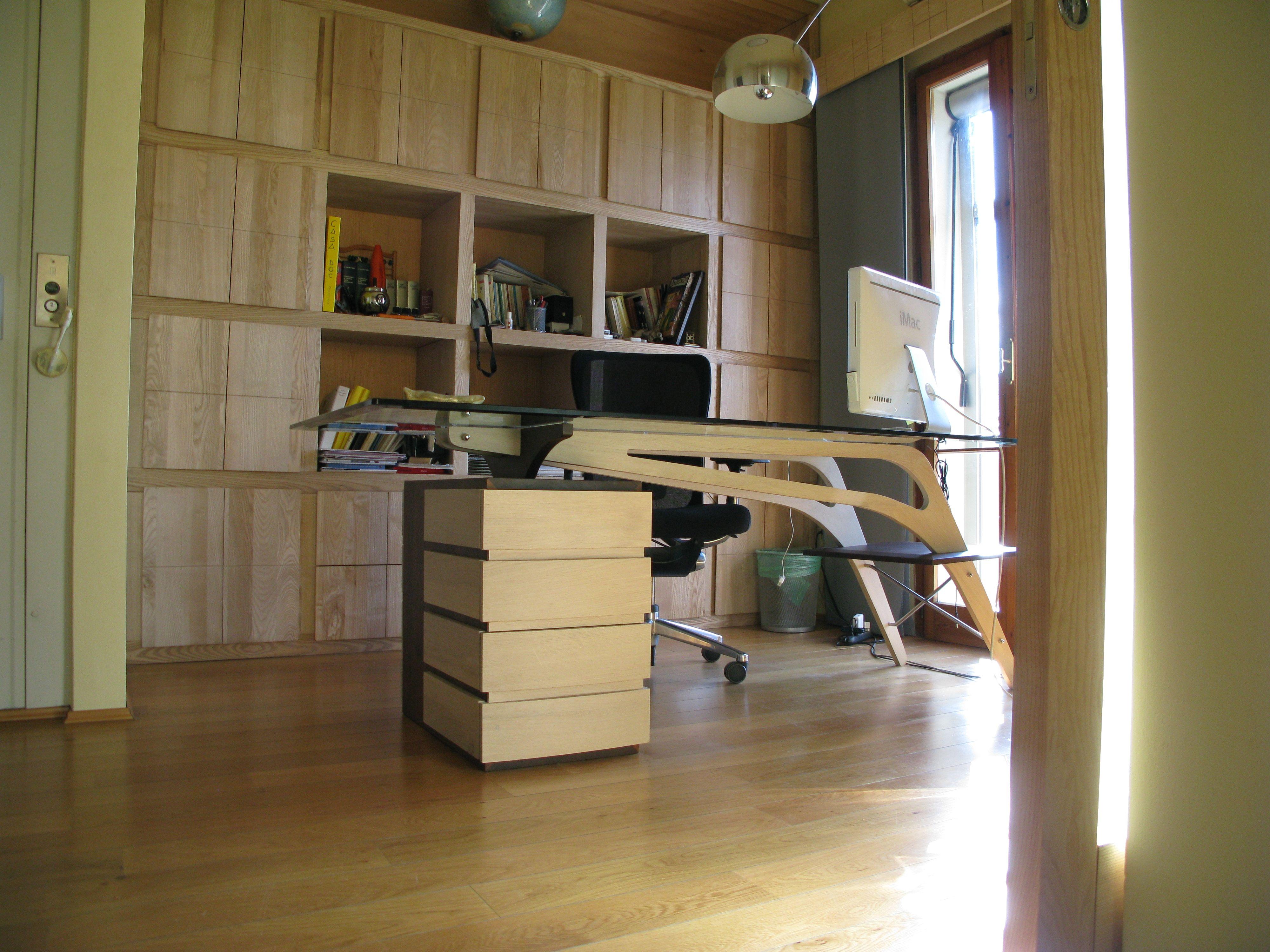 scrivania libreria studio