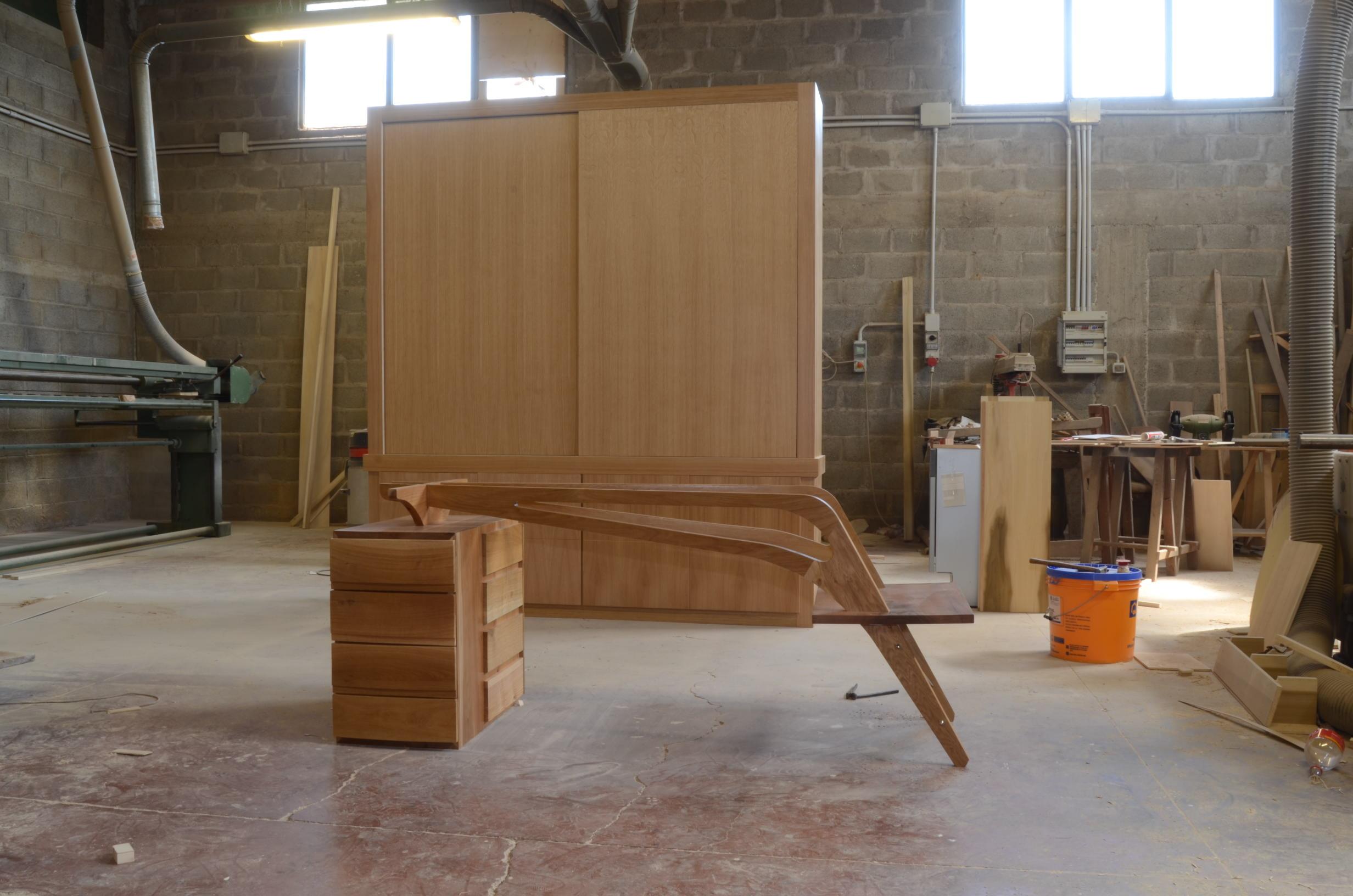 costruzione scrivania libreria studio (2)