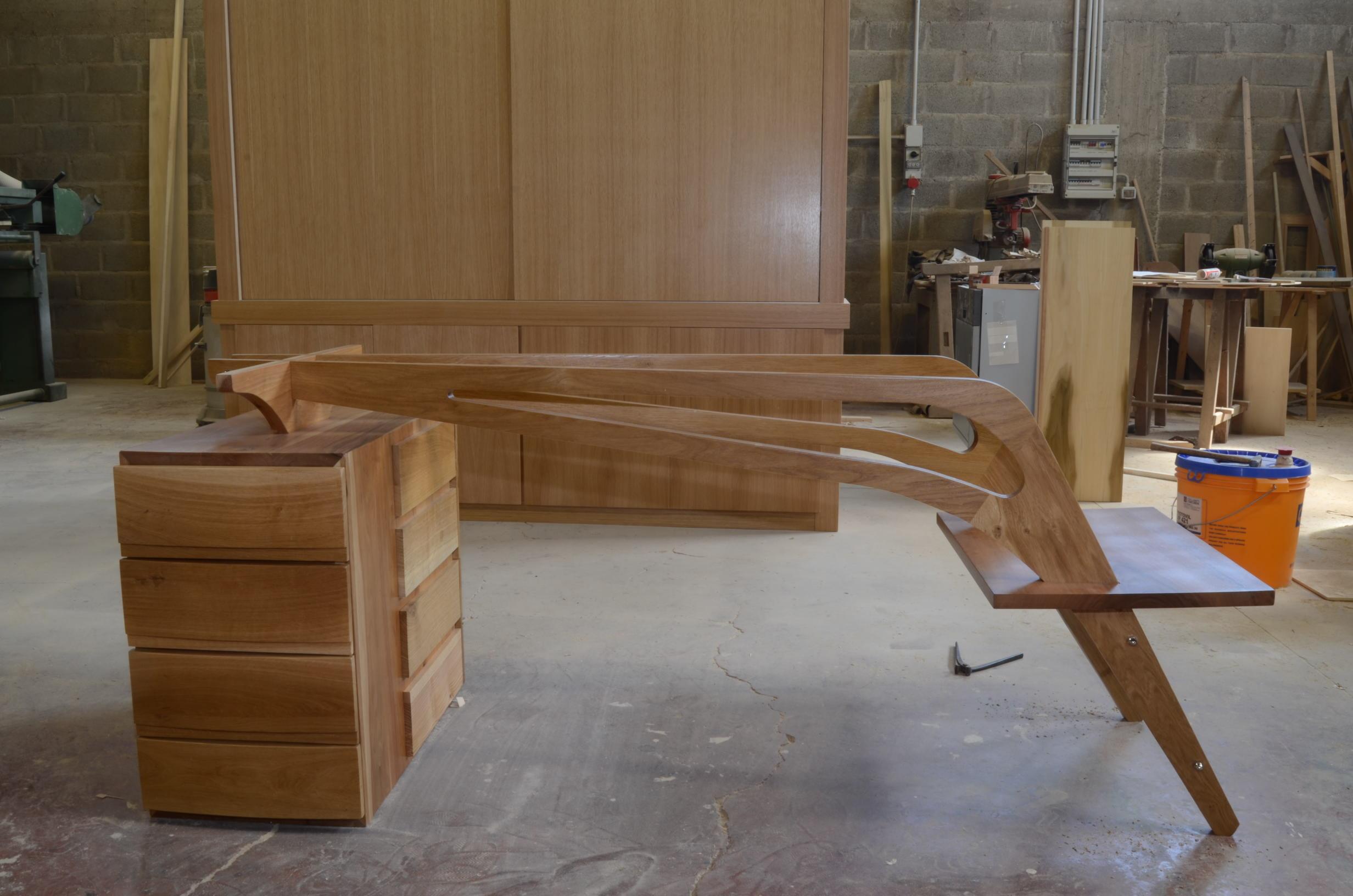costruzione scrivania libreria studio (3)