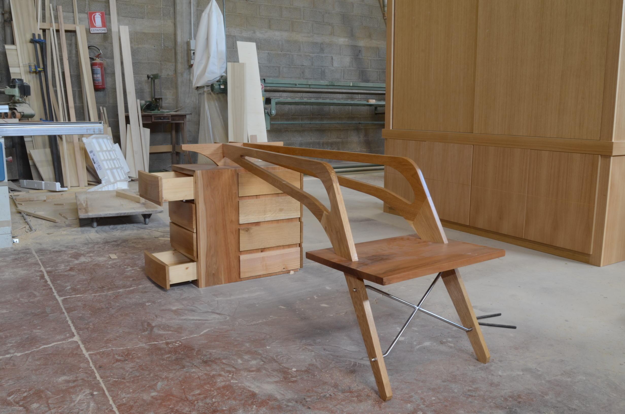 costruzione scrivania libreria studio (4)