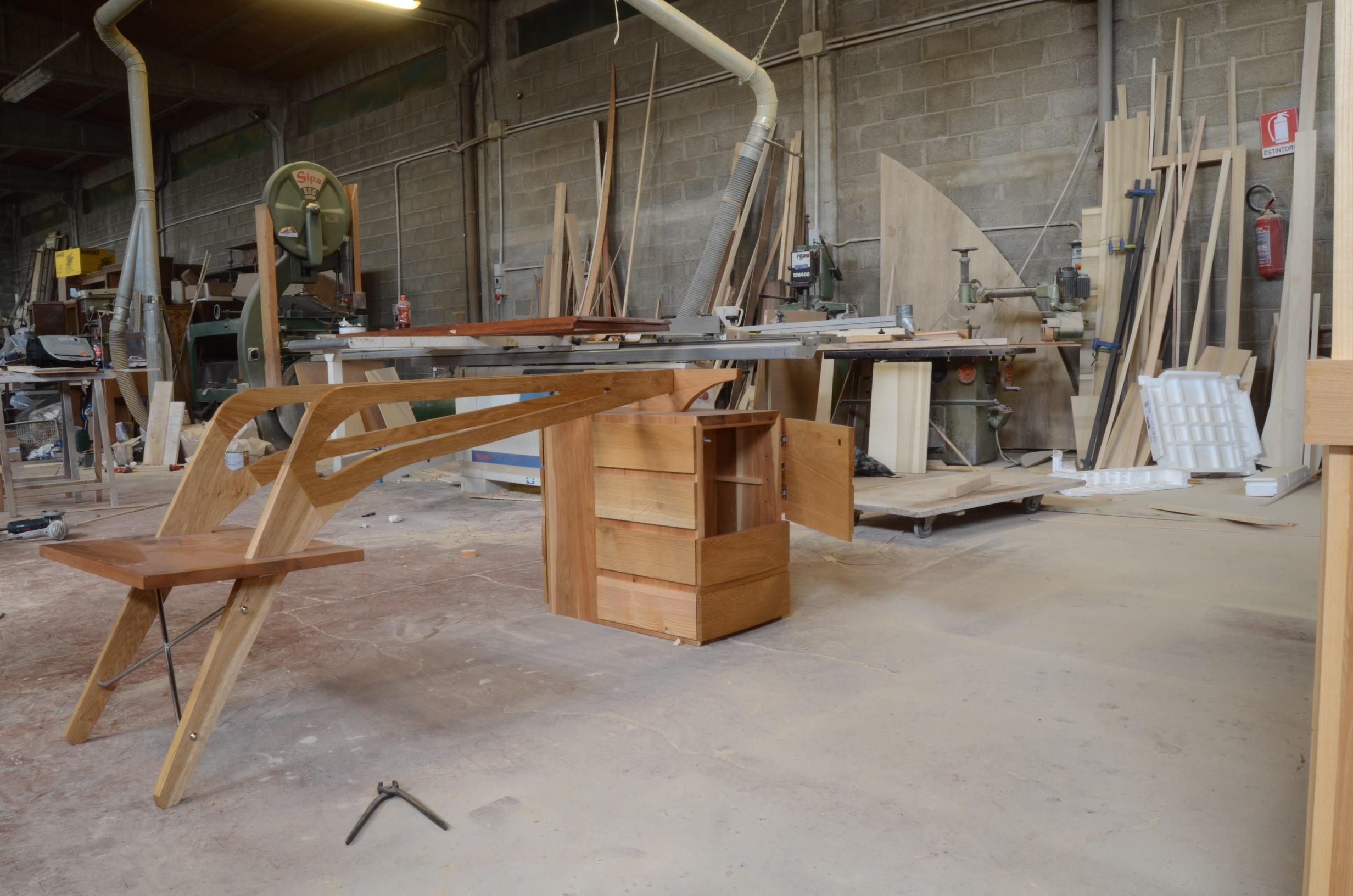 costruzione scrivania libreria studio (5)