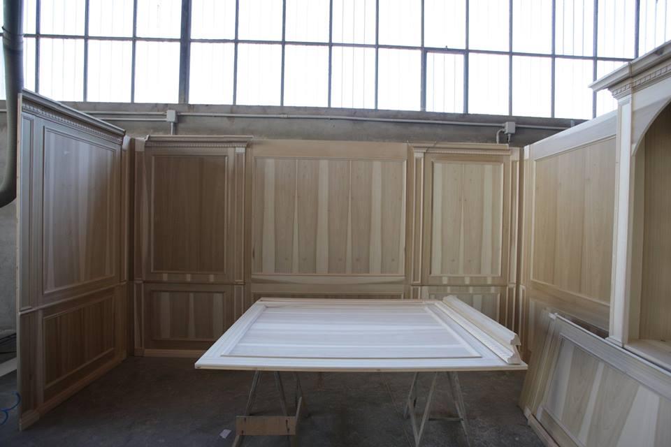Boiserie in legno costruzione 3