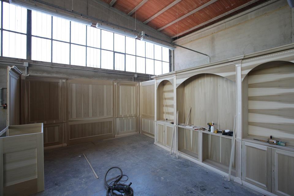 boiserie in legno costruzione 5
