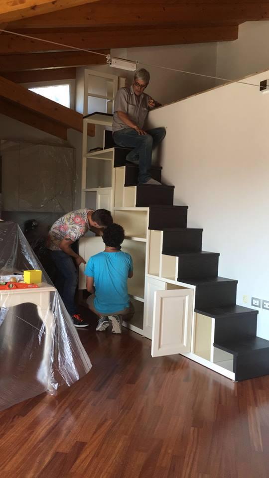 montaggio scala legnoeoltre