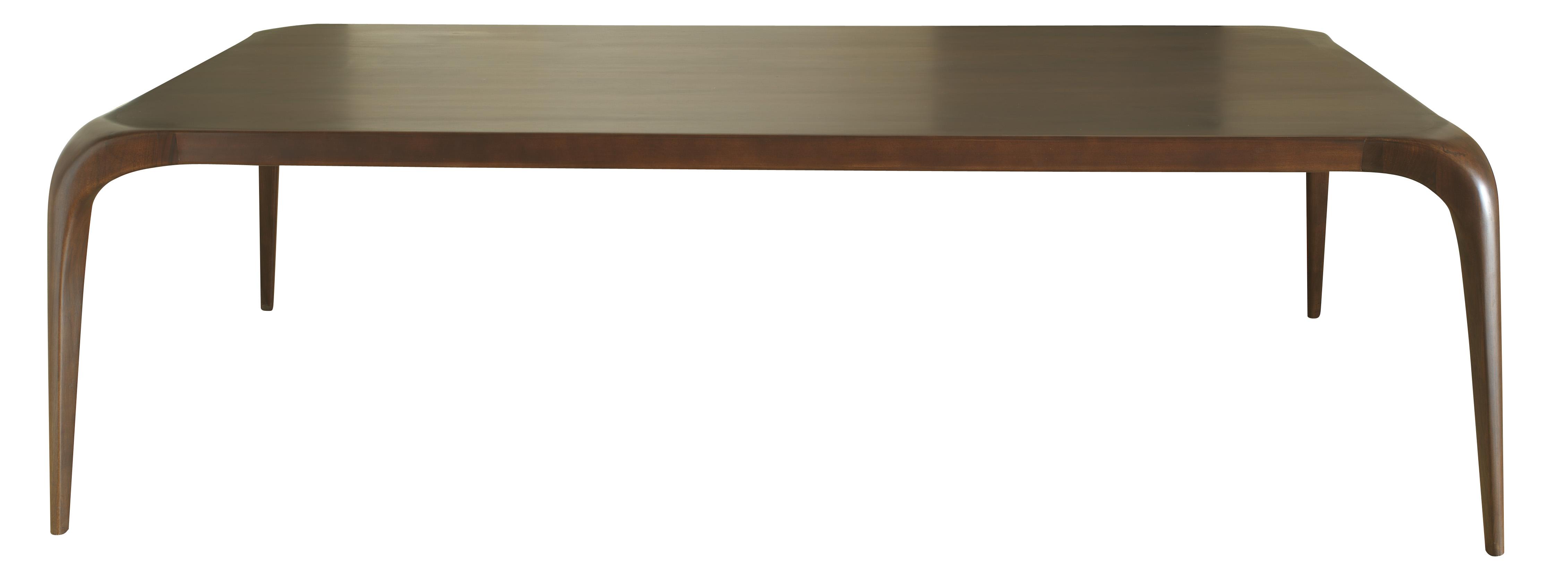 Tavolo moderno noce massello legnoeoltre - Tavolo noce massello ...