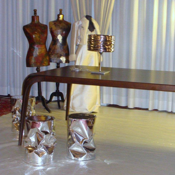 Tavolo durante mostra del design a Firenze
