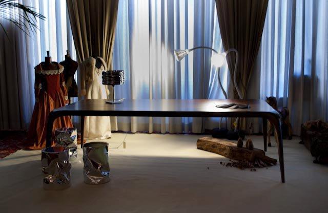 Tavolo moderno noce massello tavolo su misura legnoeoltre - Tavolo noce massello ...