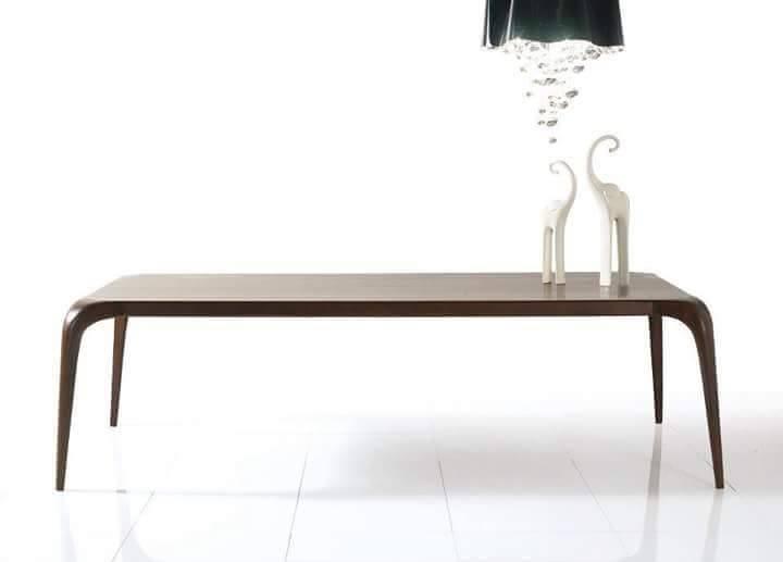 Tavolo moderno noce massello