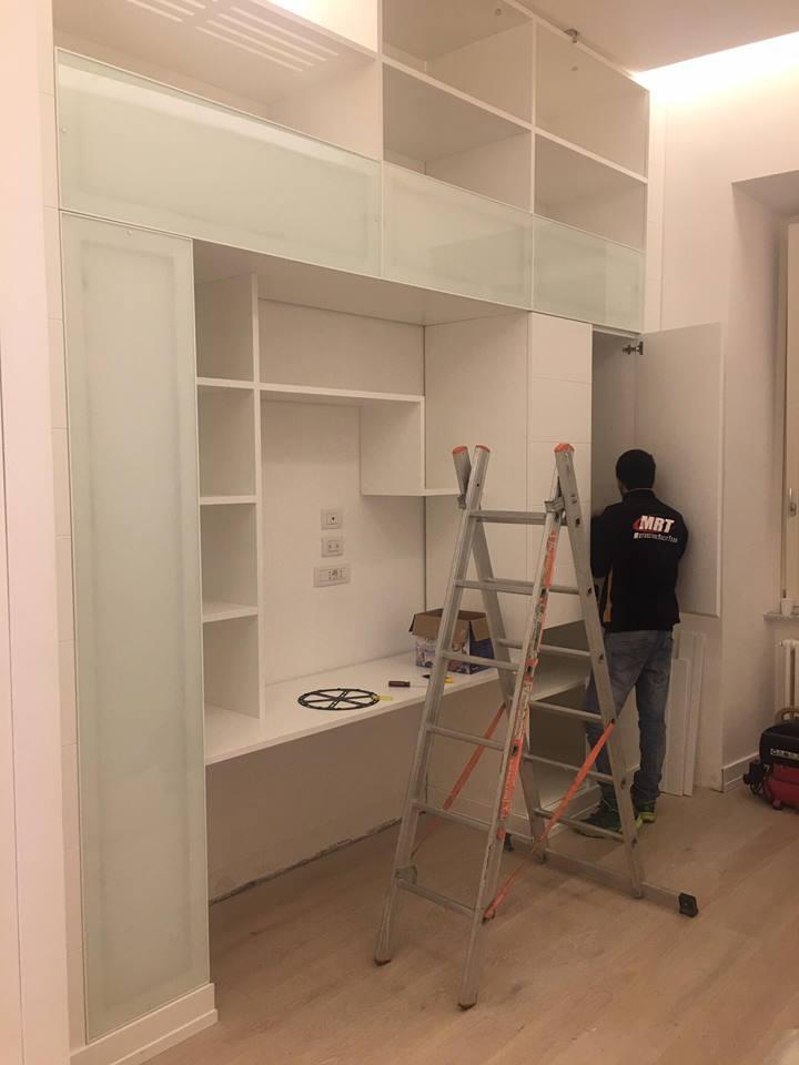 Parete Attrezzata Studio : Studio parete attrezzata illuminata