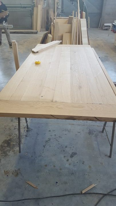 Tavolo in rovere massello naturale legnoeoltre - Tavolo in rovere naturale ...