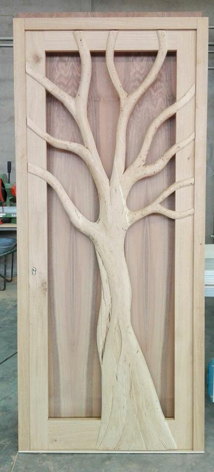 La porta albero in rovere massello. legnoeoltre