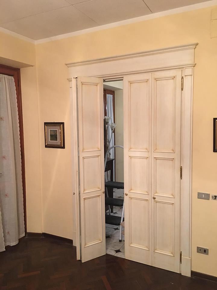 Grande porta a libro 2 ante|Porta 4 pannelli|legnoeoltre