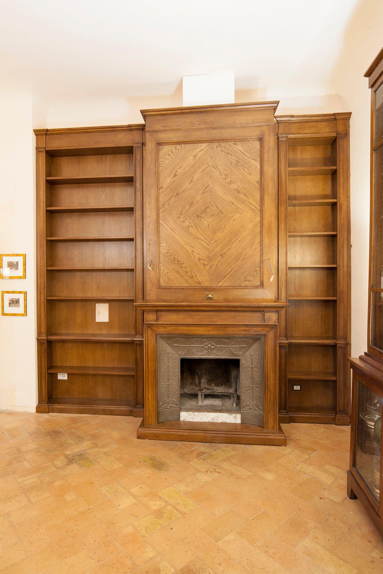 libreria boiserie in rovere-legnoeoltre