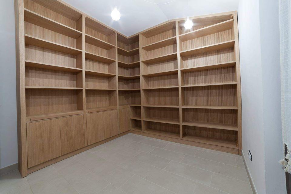 Libreria Angolare.Libreria Angolare Attrezzata In Rovere Legnoeoltre