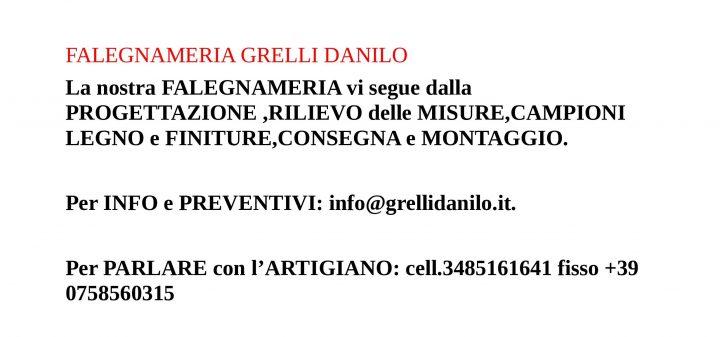 Contatti Falegnameria Grelli Danilo